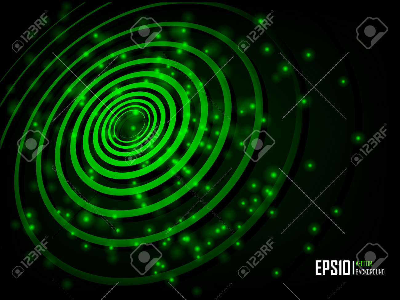 Vector illustration of futuristic green abstract glowing background Stock Vector - 10232642
