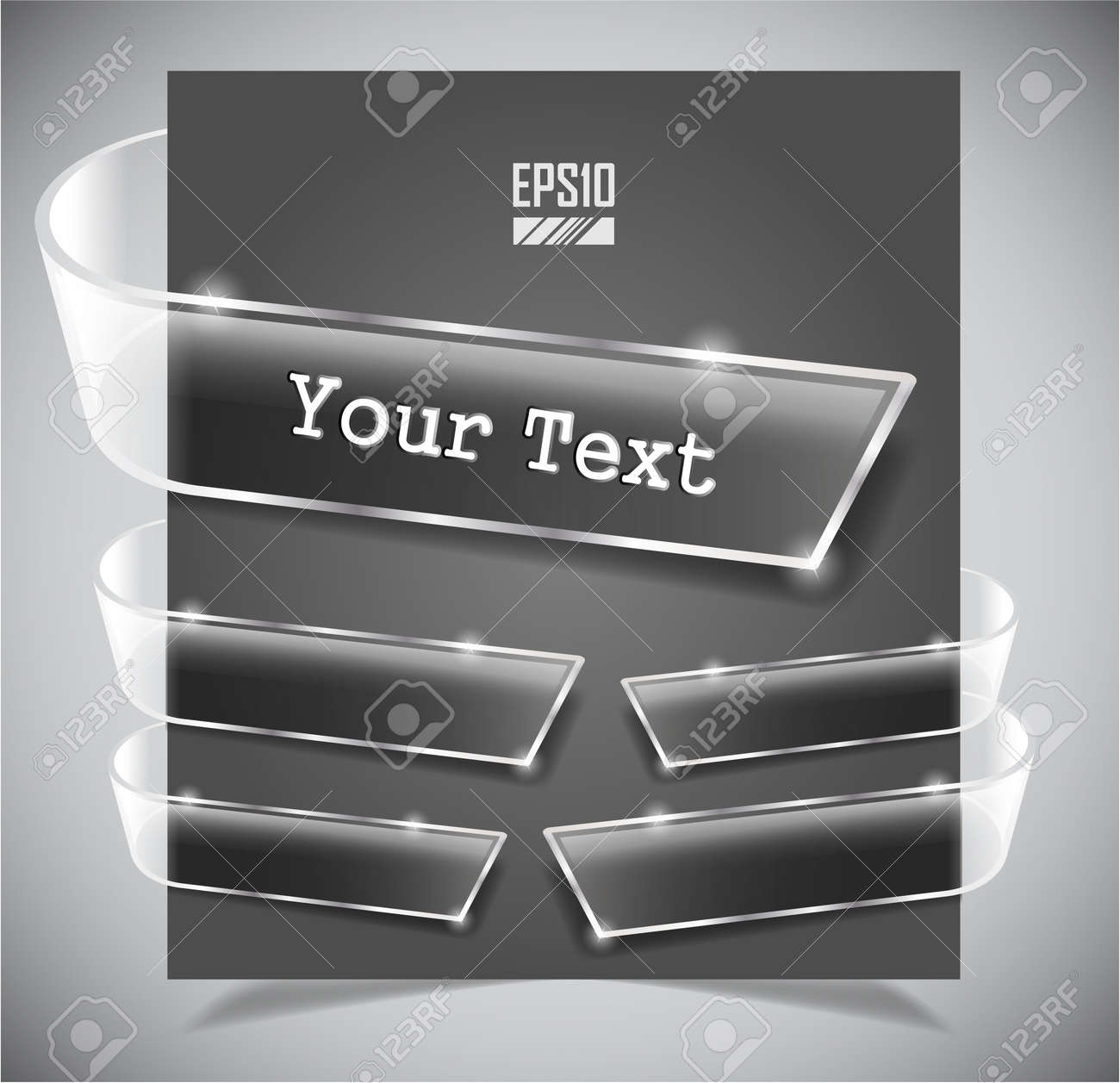 set of transparent glass ribbons. Vector illustration Stock Vector - 13442152