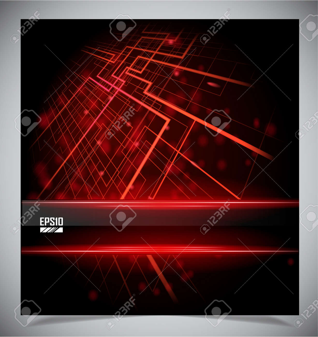 Smooth colorful abstract techno background illustration - 17297451
