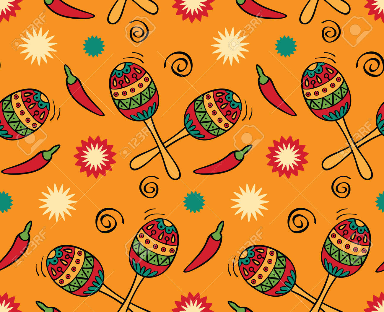 seamless with mexican festival royalty free cliparts, vectors, and
