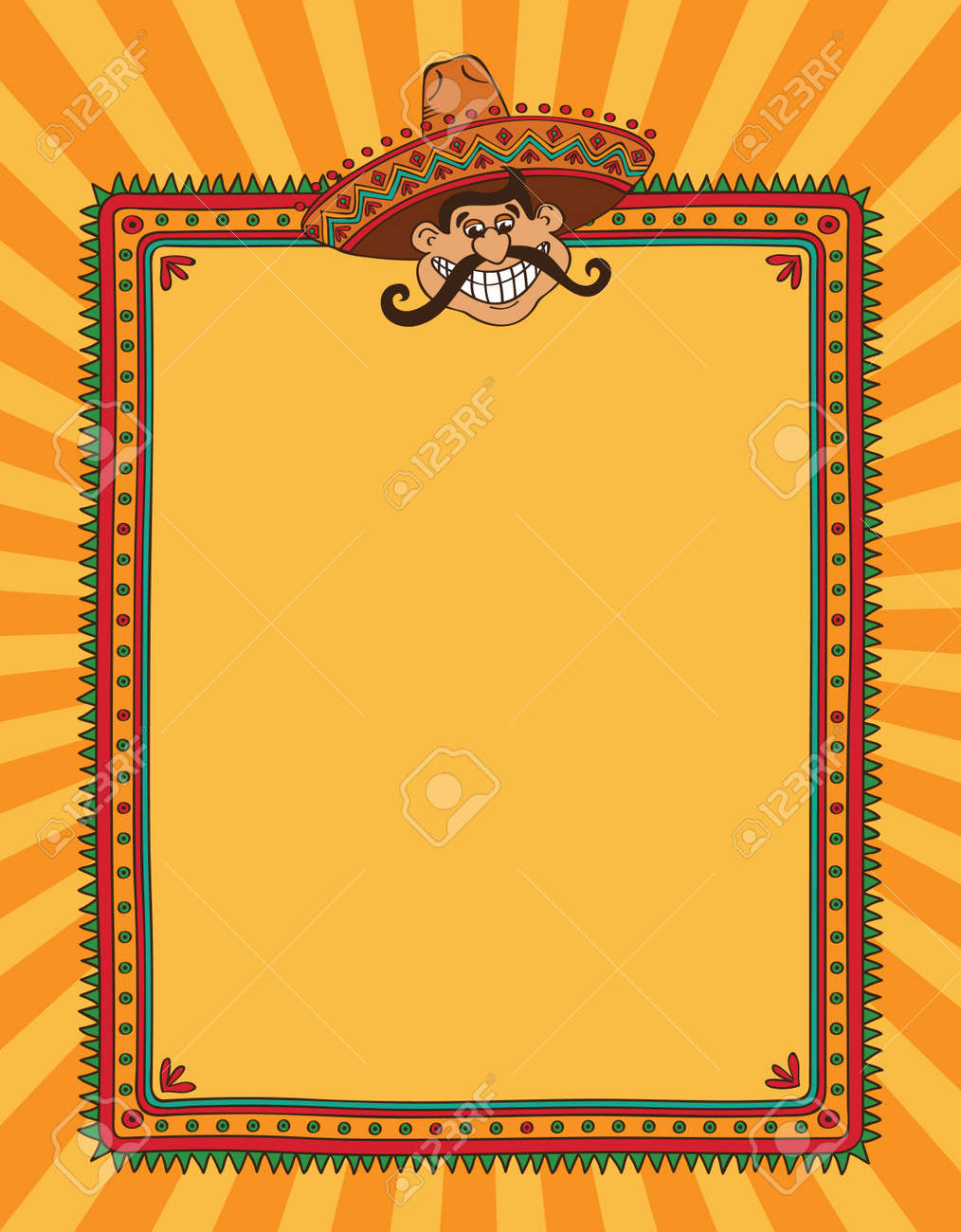 frame with head of mexican man royalty free cliparts, vectors, and