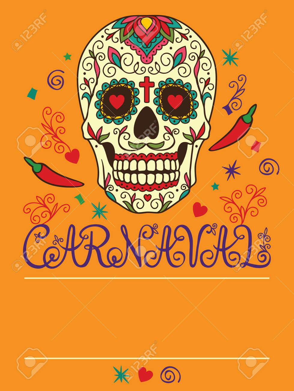 Marco Con El Cráneo Mexicano Ilustraciones Vectoriales, Clip Art ...