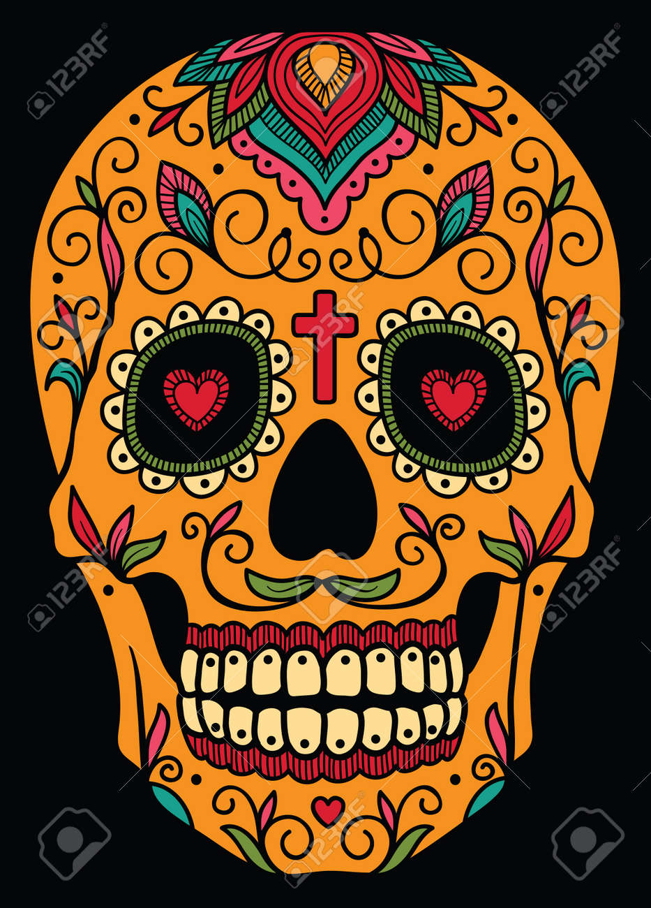 Mexican Candy Skull - Image Wallpaper Database