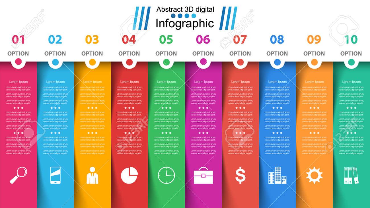 Business papr infographic. Ten items. - 118472481
