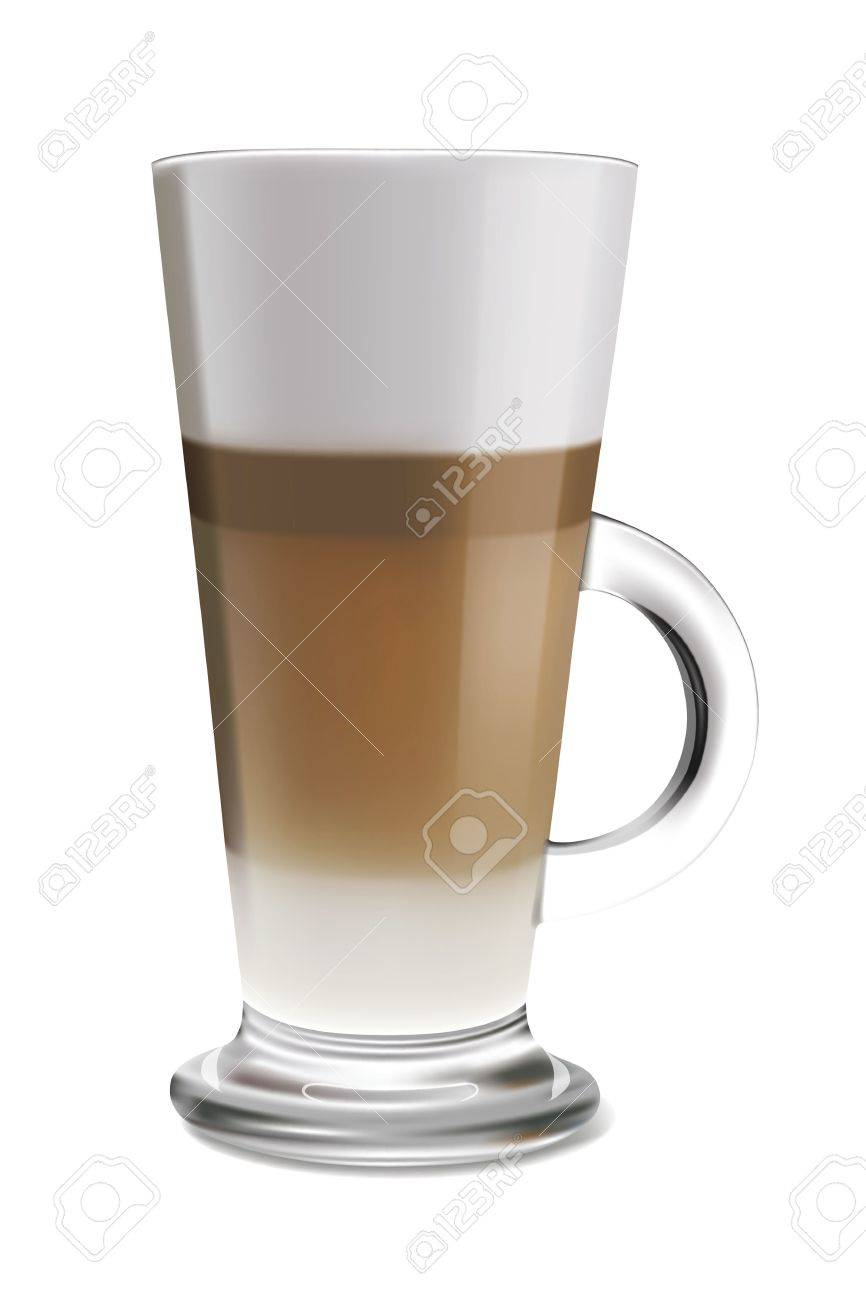 Vector Illustration Of Coffee Latte In Glass Royalty Free Cliparts Vectors And Stock Illustration Image 18779928
