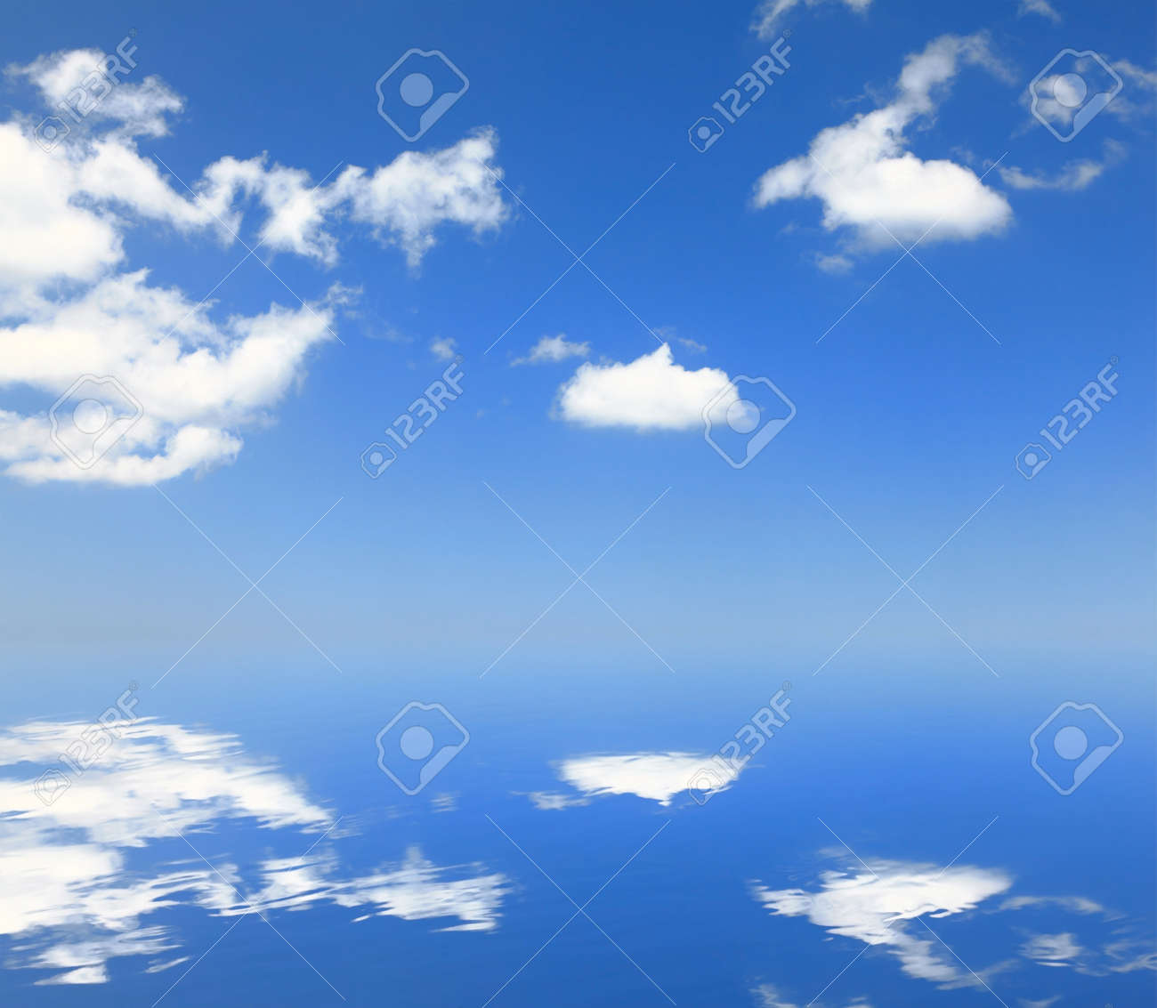 white cloud and blue sky with reflection Stock Photo - 11145935