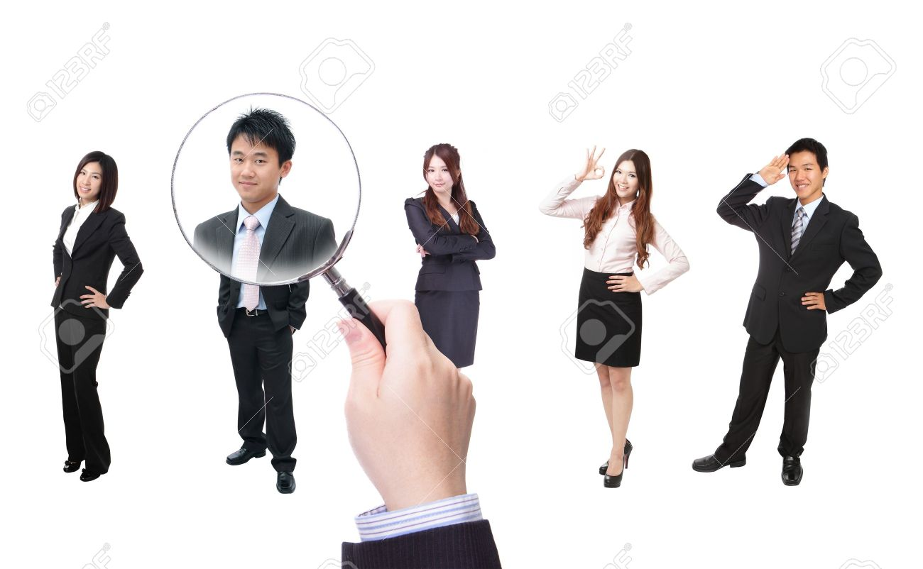 Human Resources concept, choosing the perfect candidate for the job, model are asian people Stock Photo - 14097581