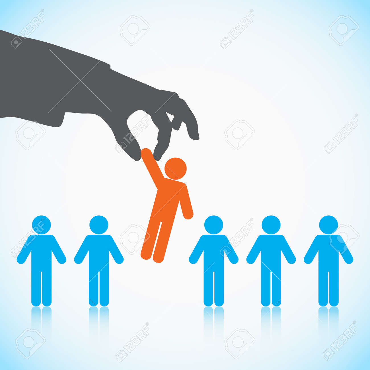 human resources concept choosing the perfect candidate for the human resources concept choosing the perfect candidate for the job stock vector 20667001