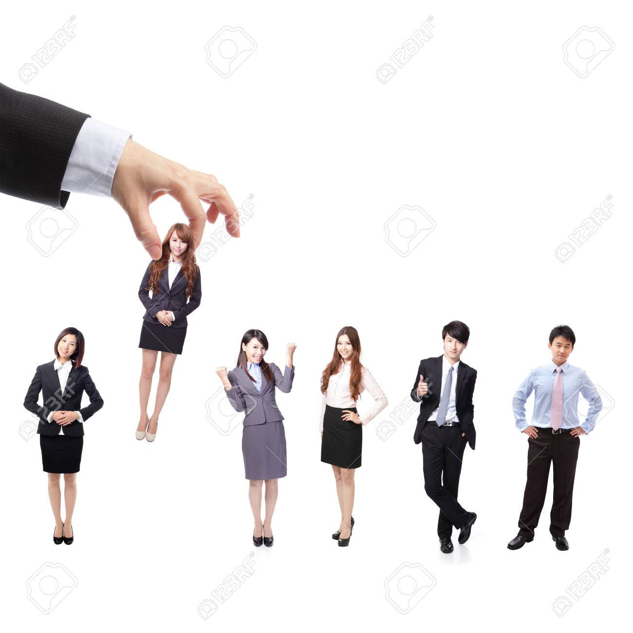 human resources concept choosing the perfect candidate business human resources concept choosing the perfect candidate business man for the job