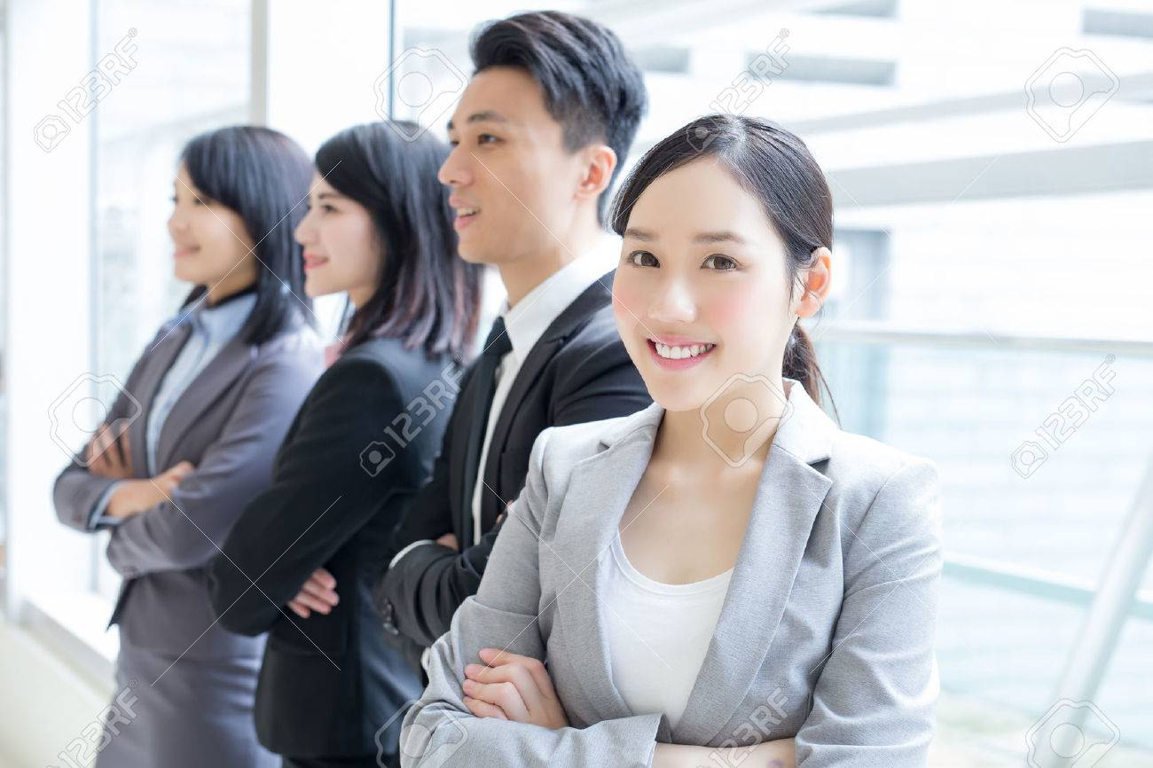 Group Of Success Business People Team In Office Asian Stock Photo Picture And Royalty Free Image Image 55827347