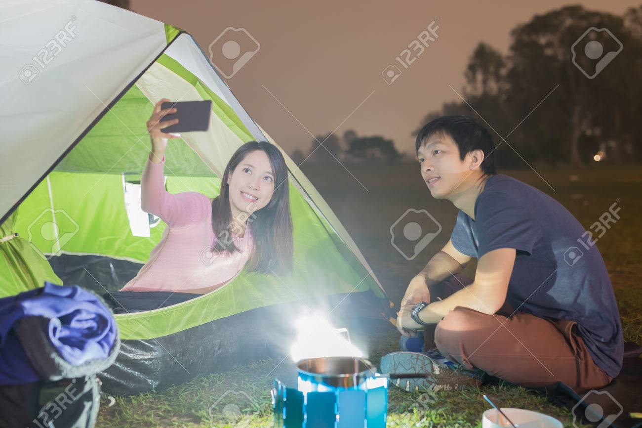 people are c&ing and selfie outdoor with tent asian Stock Photo - 65441572  sc 1 st  123RF.com & People Are Camping And Selfie Outdoor With Tent Asian Stock Photo ...
