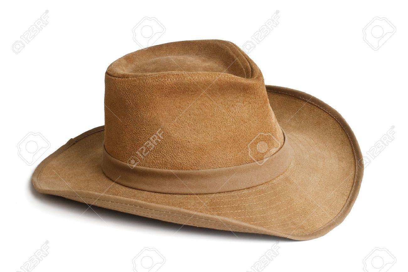 Stock Photo - Wide-brimmed suede hat f2efcf31f81