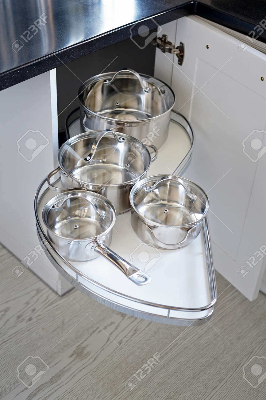 Solution For A Kitchen Corner Storage In A Cupboard A Corner
