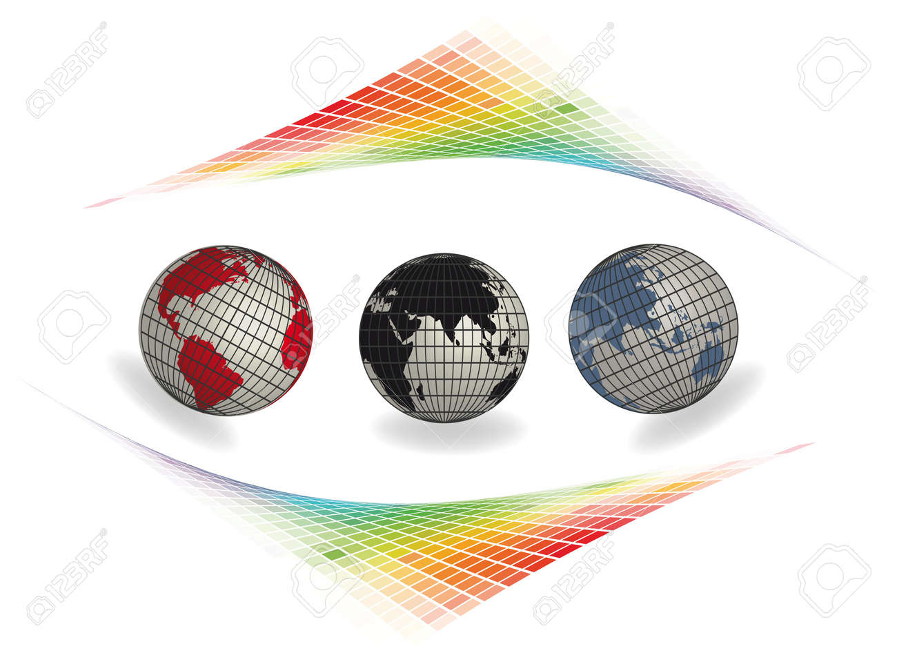 Illustration  original globe elements-spheres Stock Vector - 12807458