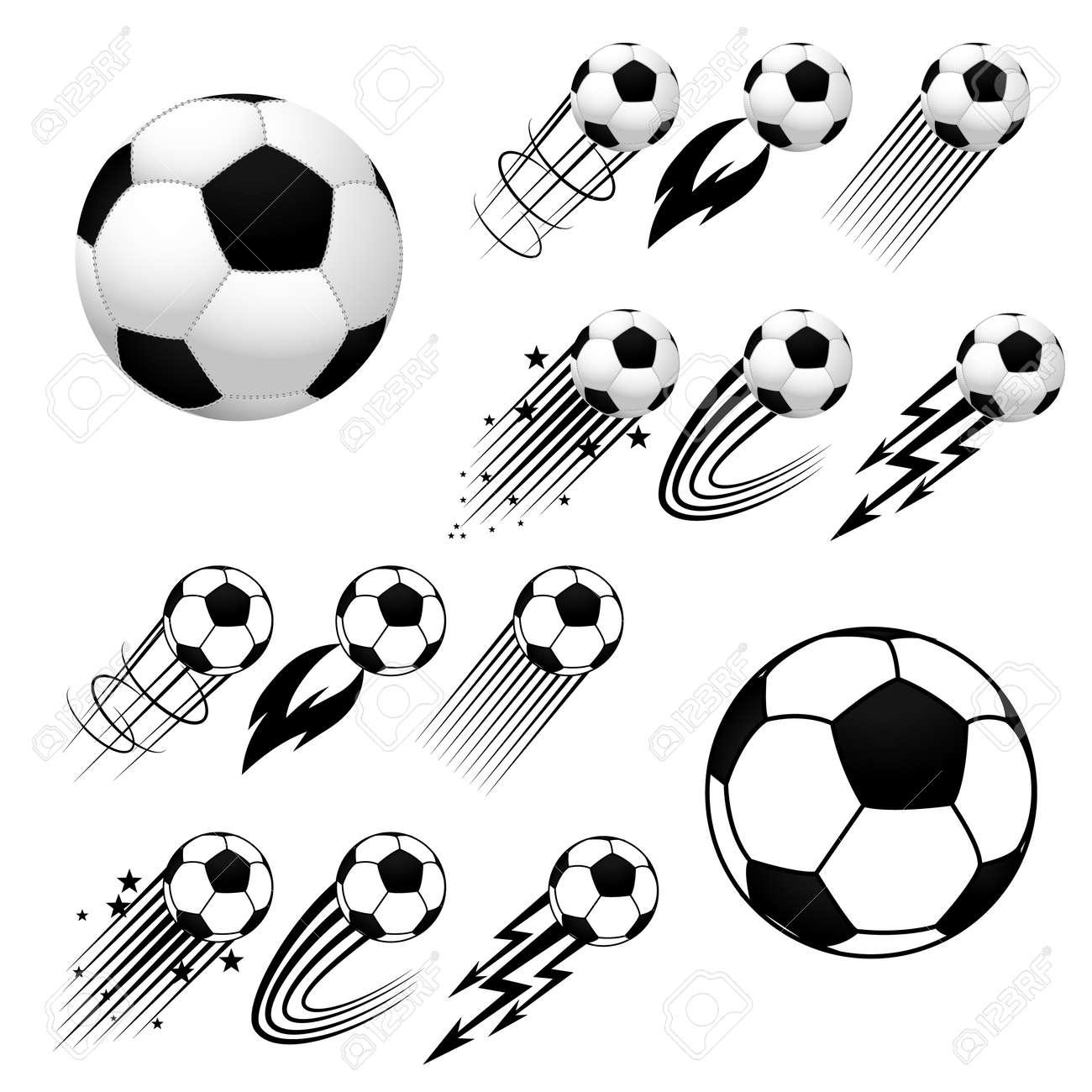 Fútbol. Fútbol. Balones De Fútbol Con Diferentes Animaciones De ...