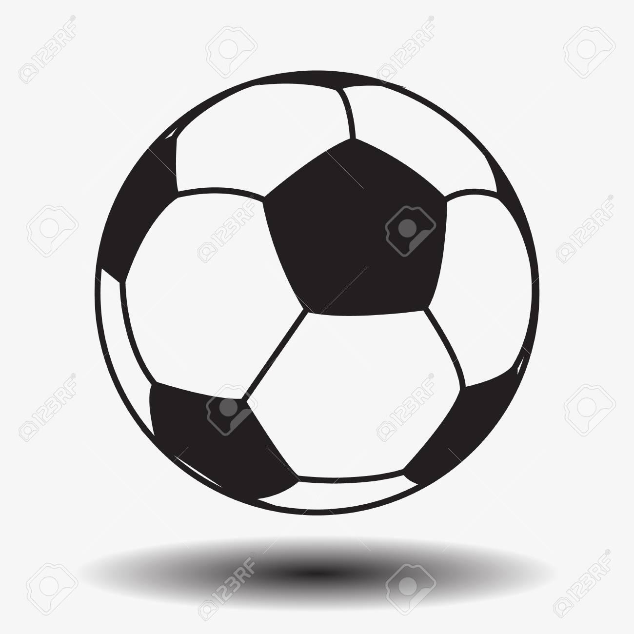 Fútbol. Fútbol. Balón De Fútbol De Cuero Aislado Sobre Fondo Blanco ...