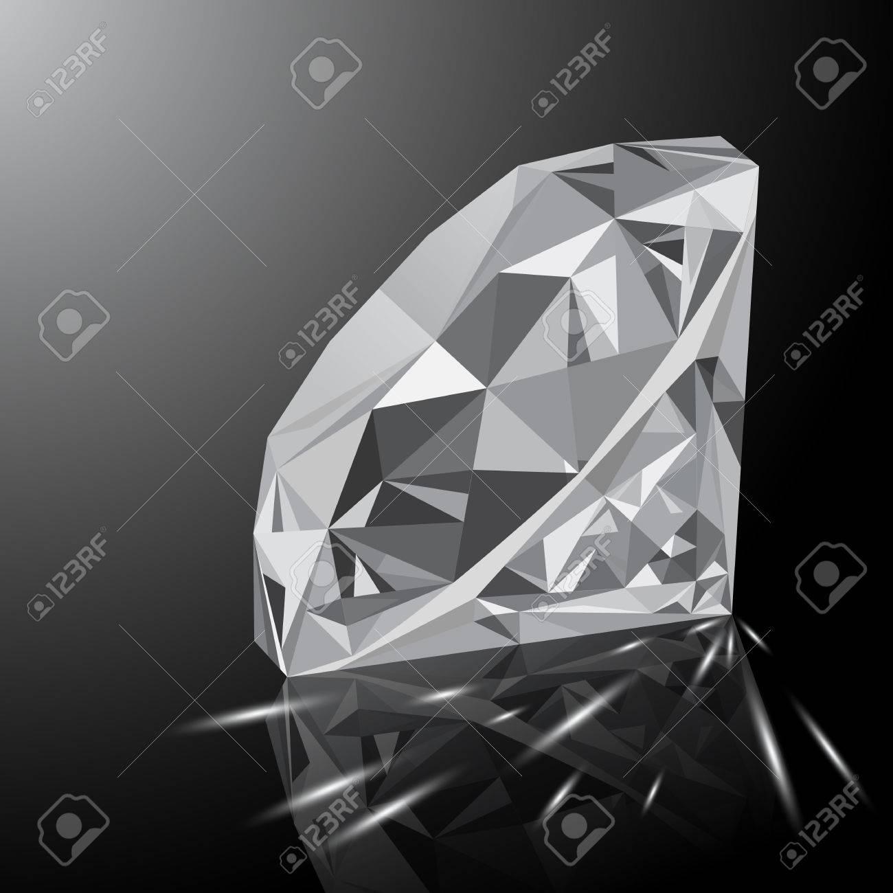 Un Joyau En Diamant Blanc Brillant Realiste Avec Une Reflexion Une Lueur Blanche Et Des Etincelles Lumineuses Sur Un Fond Degrade Gemstone Colore Qui Peut Etre Utilise Dans Le Cadre D Une Icone