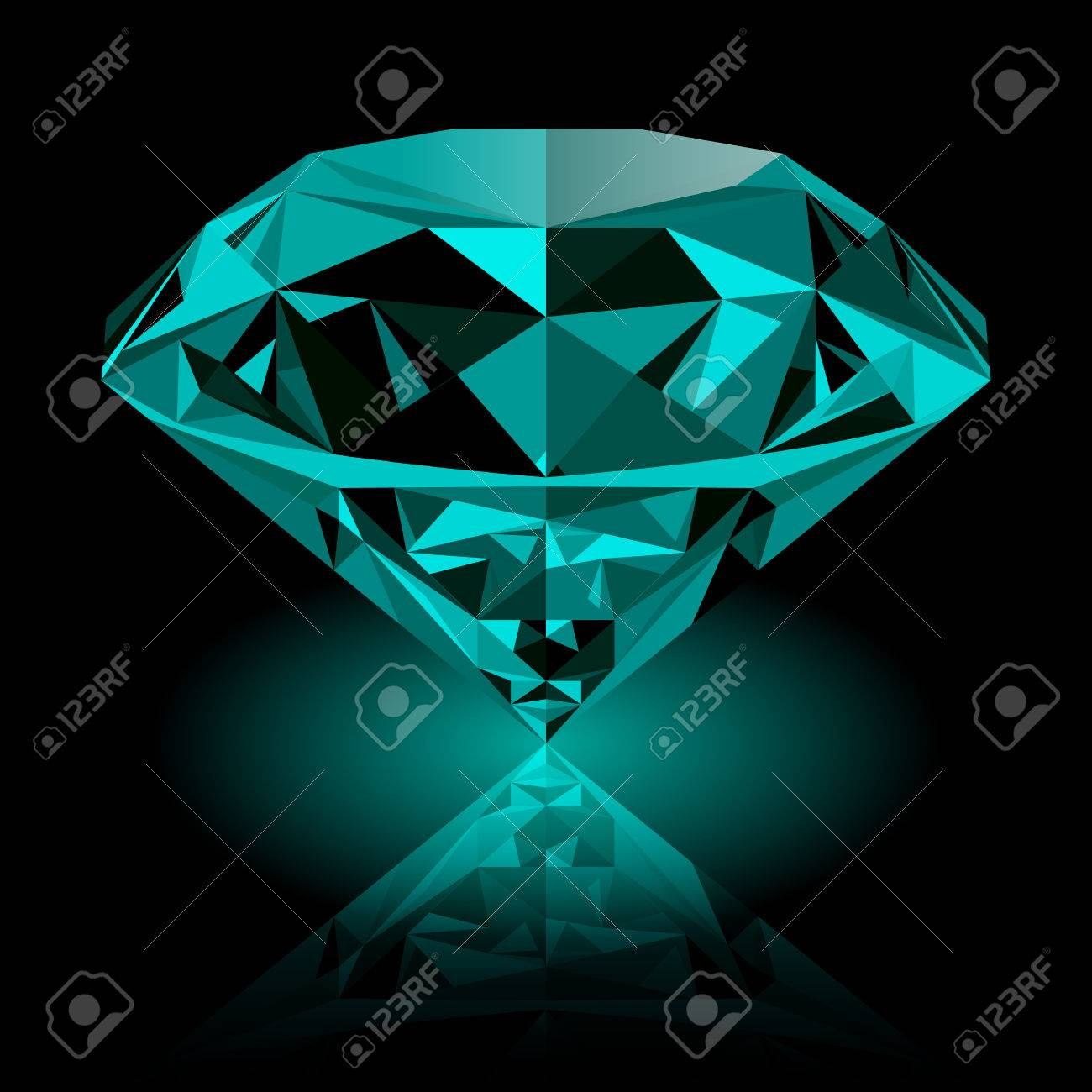 illustration abstract d similar jewels to green geometric jewel stock emerald shapes