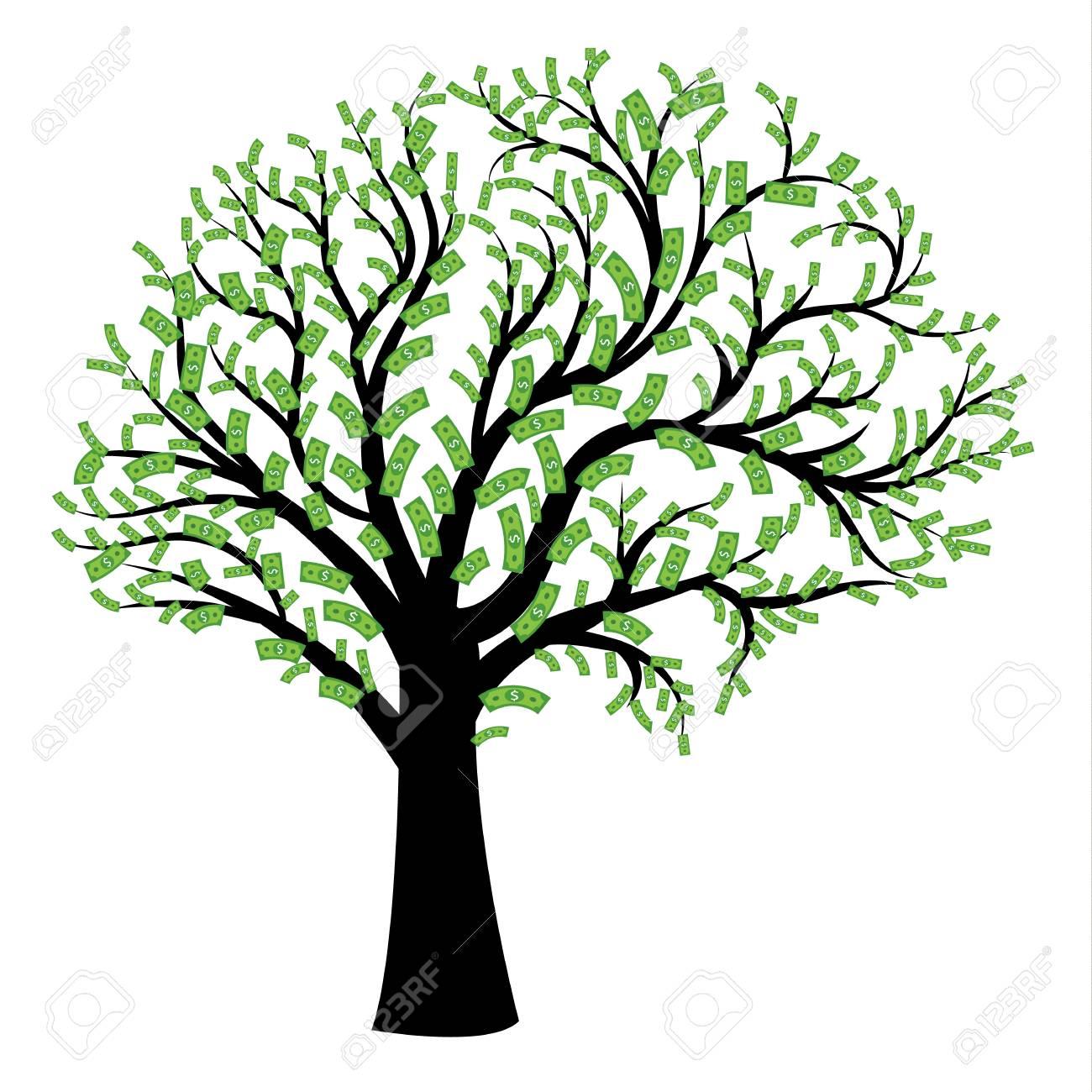 money tree in shape of human brain big tree with dollar bills rh 123rf com