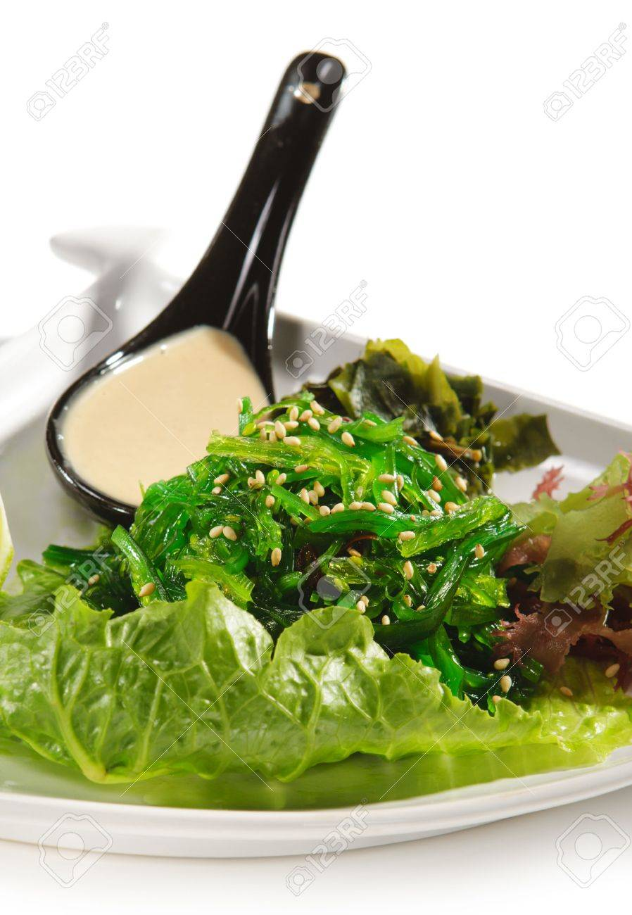 Japanese Cuisine - Seaweed Salad with Lime and Nuts Sauce Stock Photo - 5472133