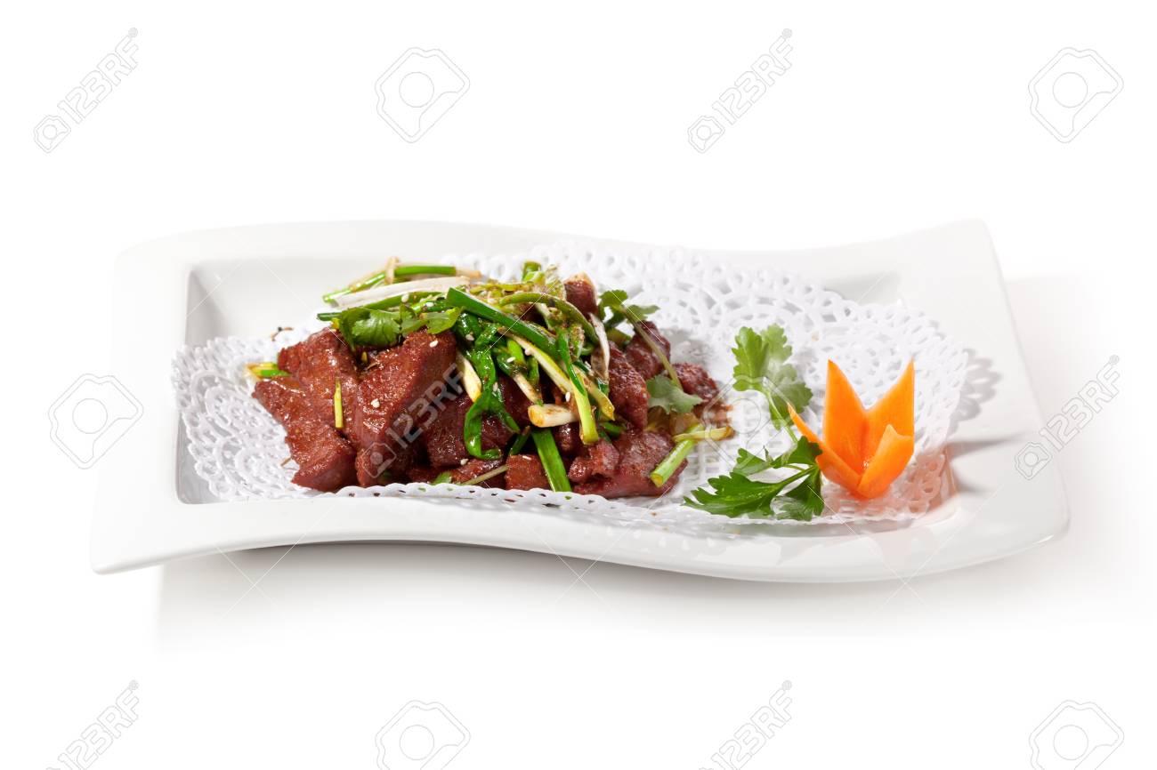 Huhn Küche - Gebratenes Rindfleisch Mit Zwiebeln Und Chinesischen ...