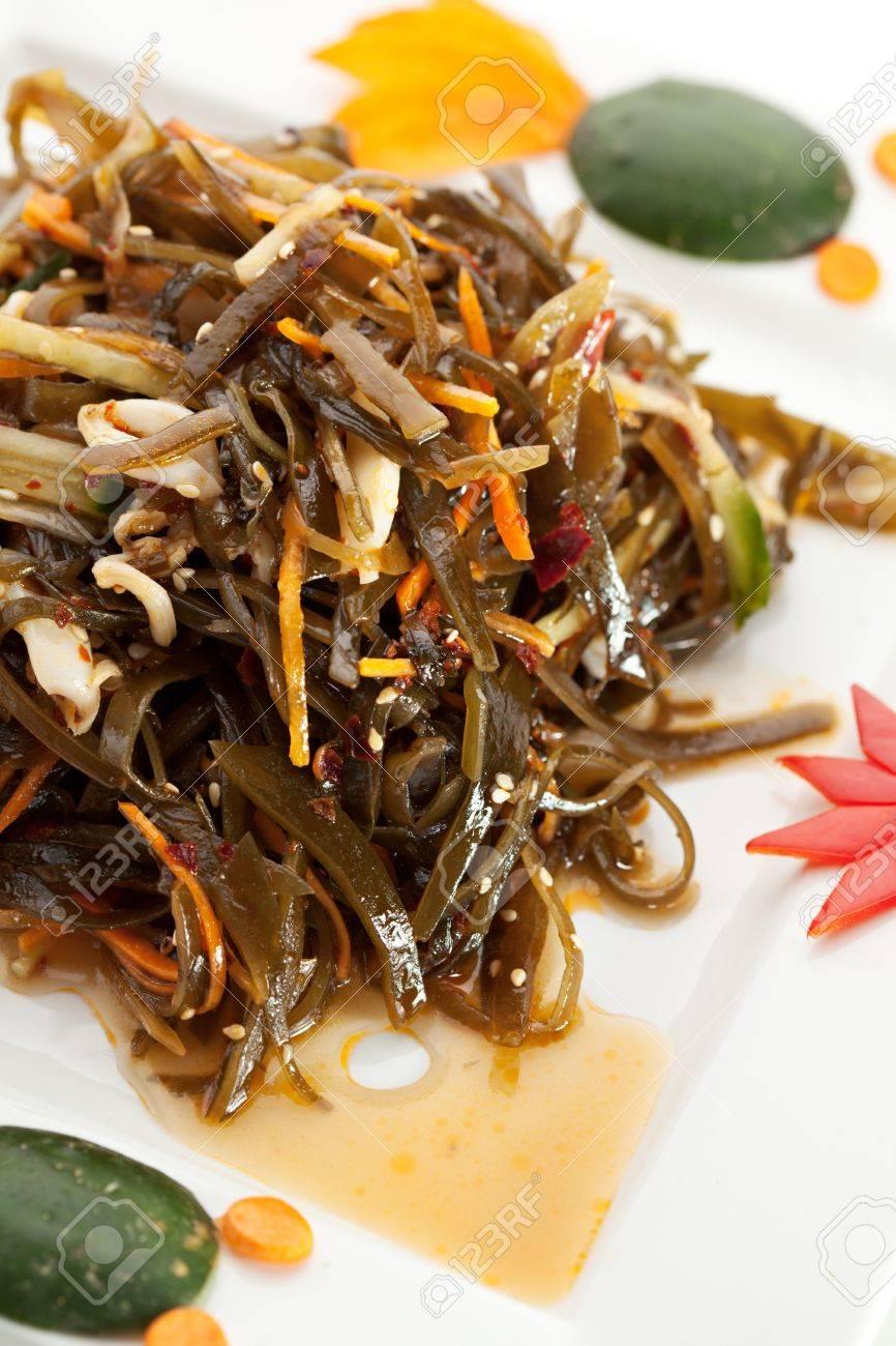cucina cinese - insalata di alghe foto royalty free, immagini ... - Alghe In Cucina