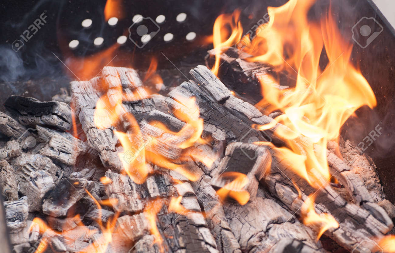 Close up of camp fire flames and fire Stock Photo - 18508720