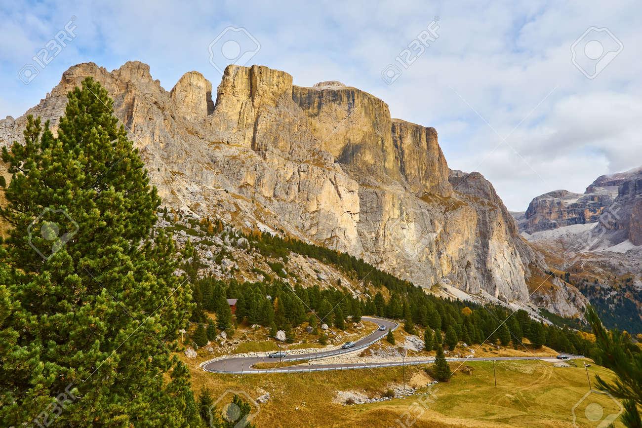 Nice panoramic view of Italian Dolomities - autumn - 172909438