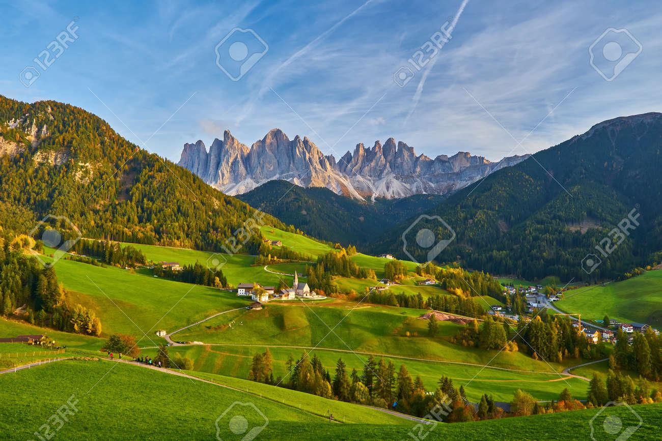 Santa Maddalena in Dolomites Range, South Tyrol, Italy - 173011265
