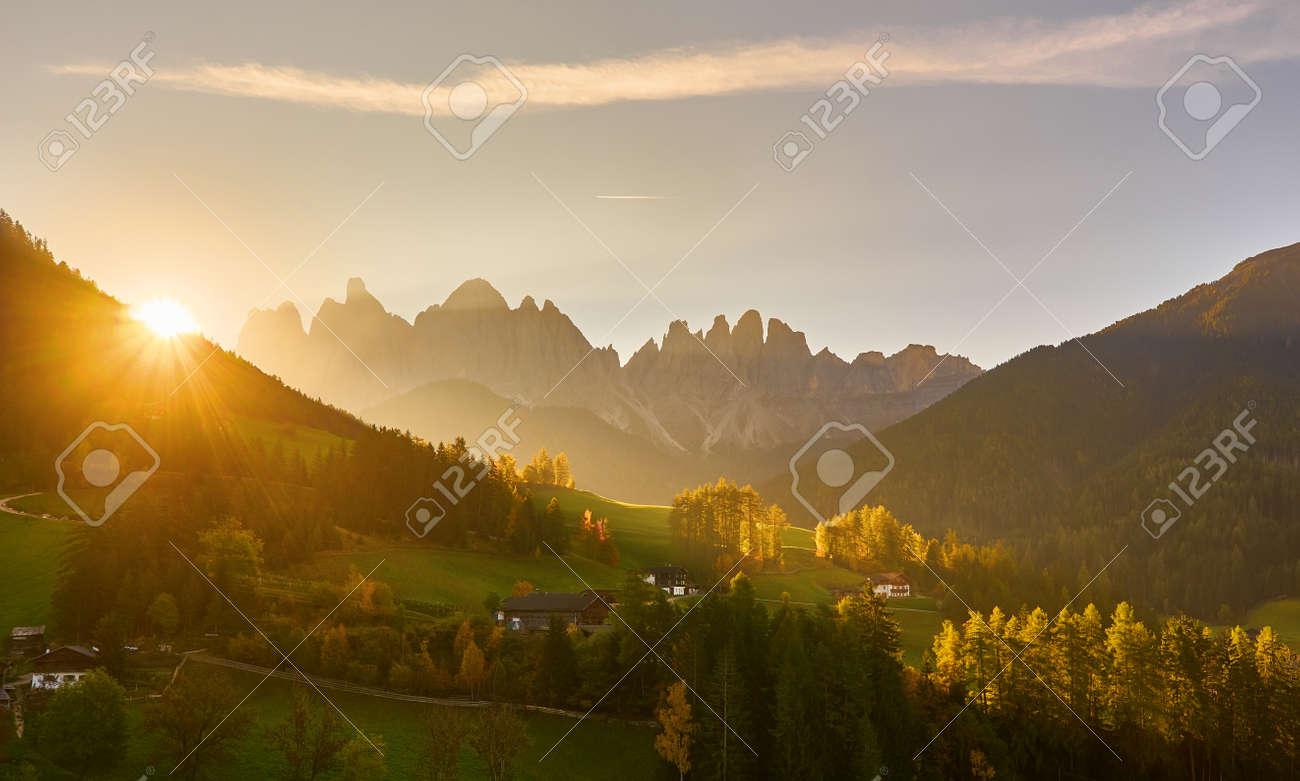 Santa Maddalena in Dolomites Range, South Tyrol, Italy - 173011369