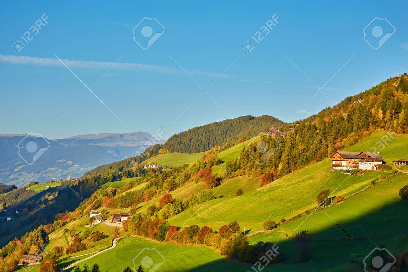 Nice panoramic view of Italian Dolomities - autumn - 172910732