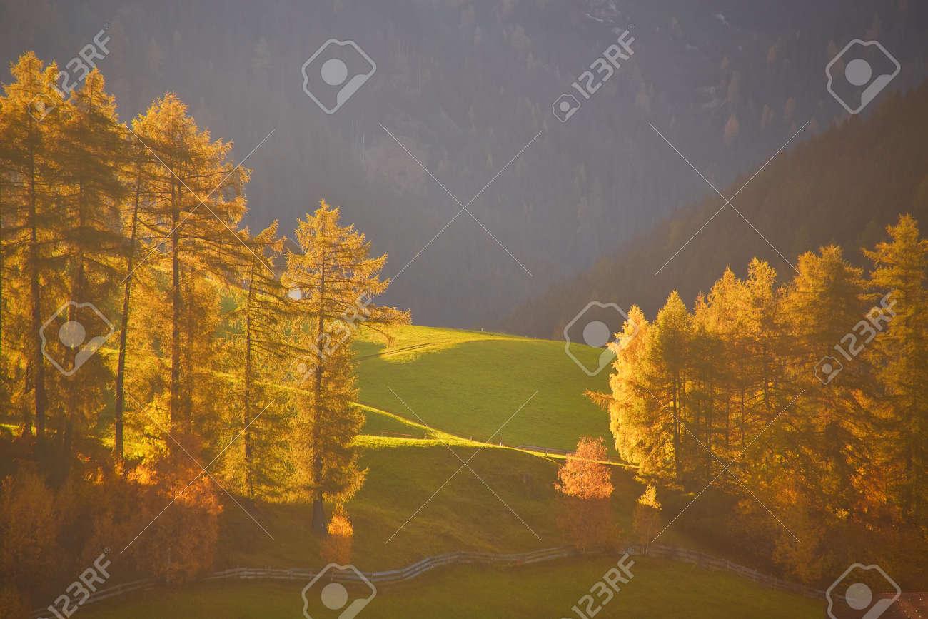 the beautiful Italian Dolomites an autumn day - 173011411
