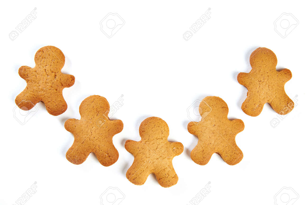 Christmas Cookies On White Background Stock Photo, Picture And ...