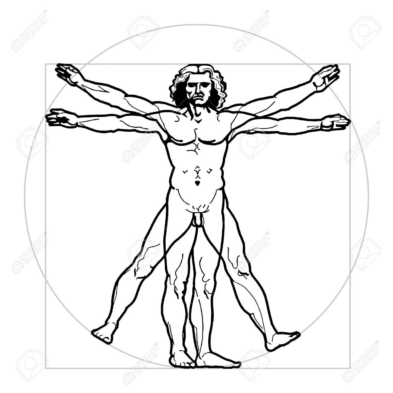 Leonardos Vitruvian Man Royalty Free Cliparts, Vectors, And Stock ...
