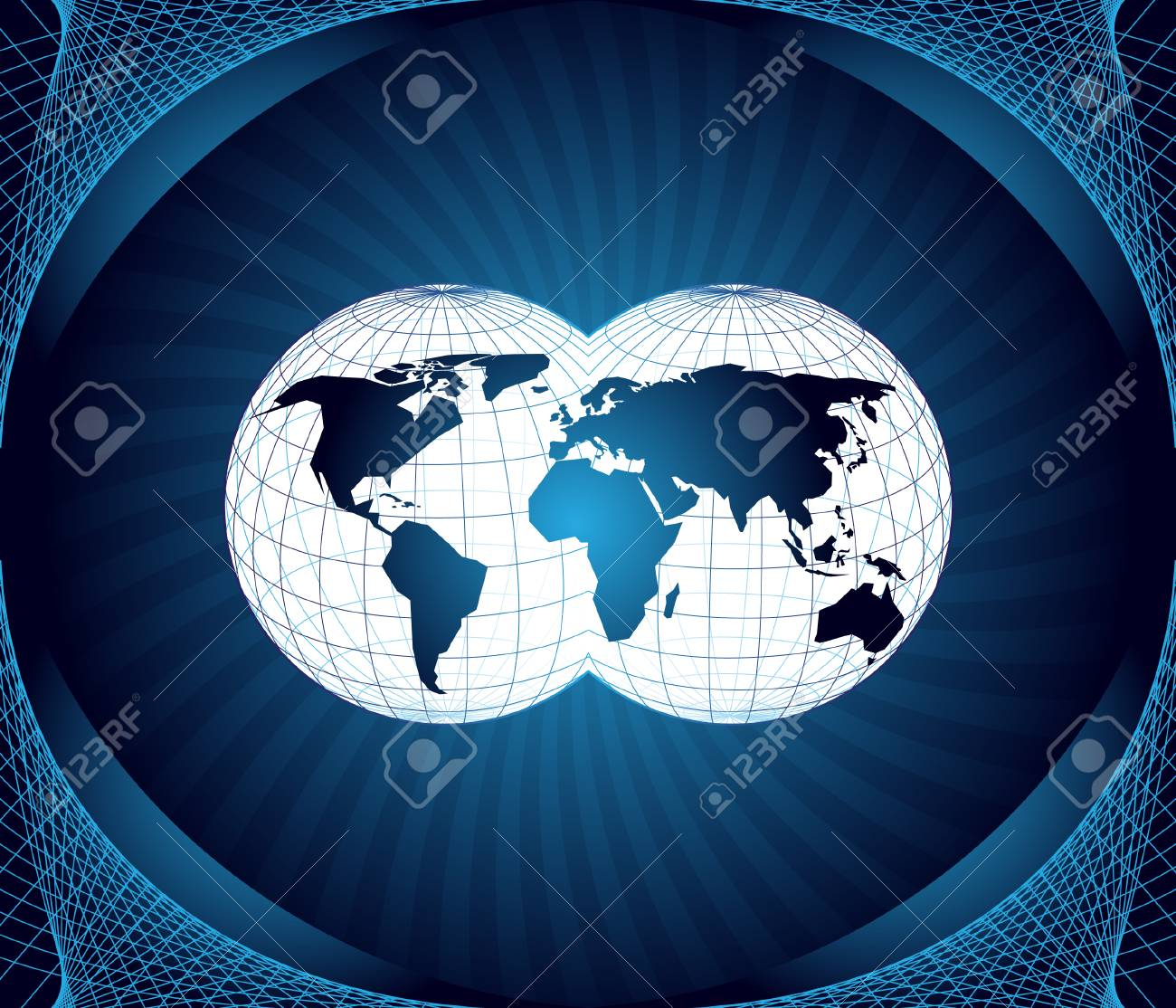 Map of the world Stock Vector - 5764870