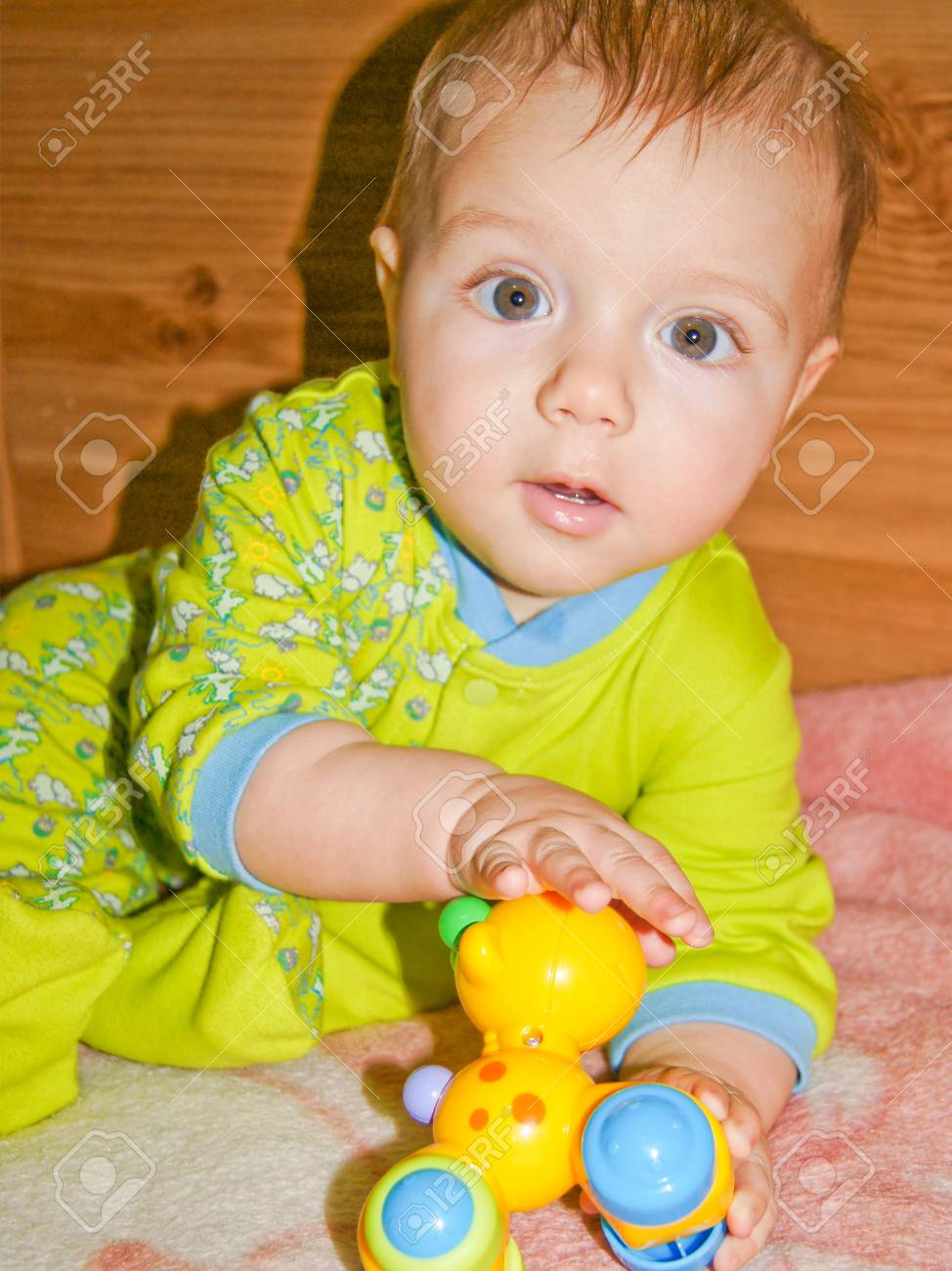 Funny little baby Stock Photo - 17352907