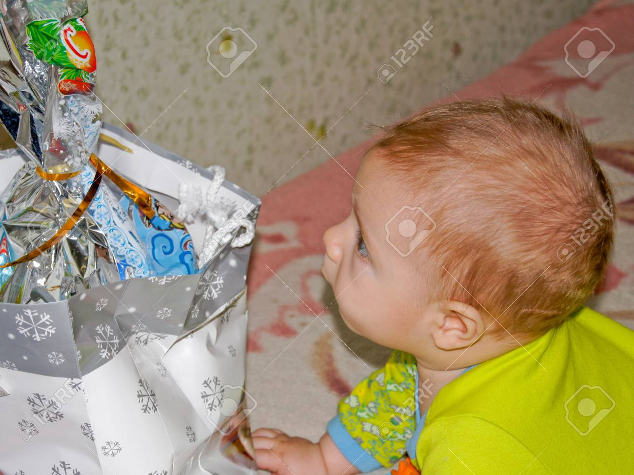 Funny little baby Stock Photo - 17353353