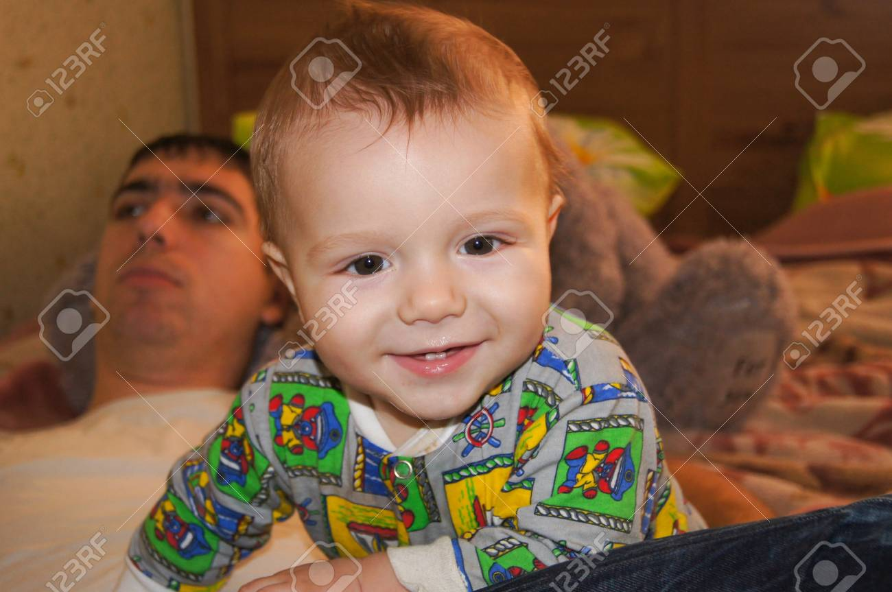 Funny little baby Stock Photo - 17353776