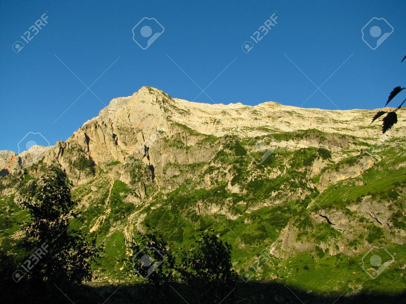 The magnificent mountain scenery of the Caucasus Nature Reserve Stock Photo - 12794933