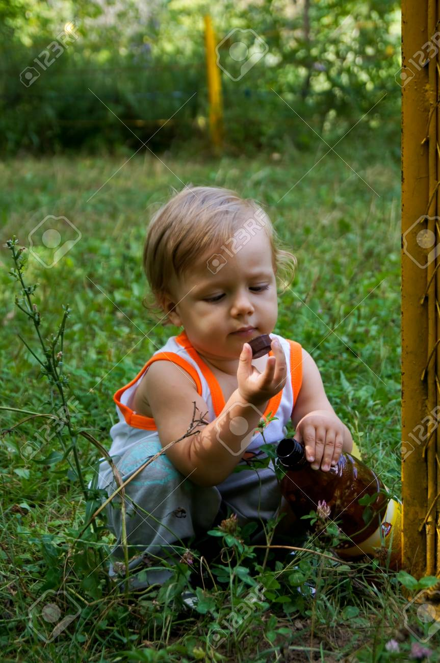 The amusing little boy on walk Stock Photo - 16247475