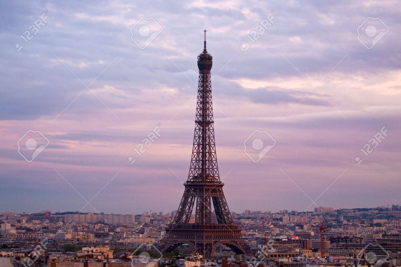 Paris aerial view from triumphal arch Stock Photo - 4982852