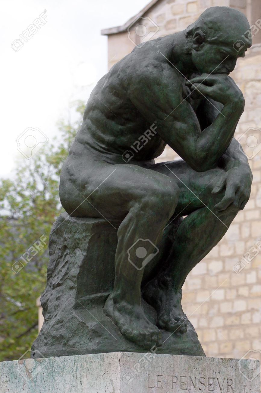 The Thinker by Rodin in Paris museum Stock Photo - 5359491