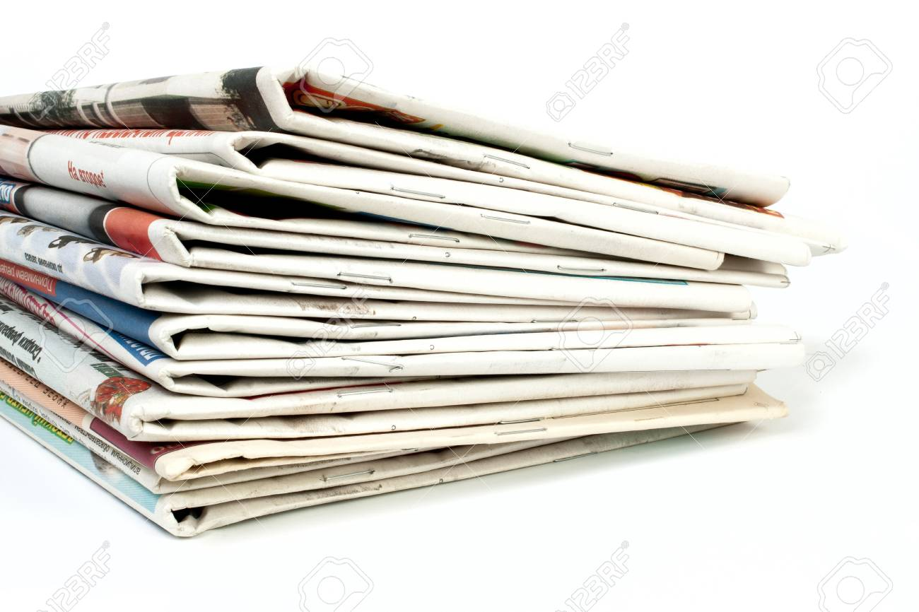 Newspapers isolated on white background Stock Photo - 7414495