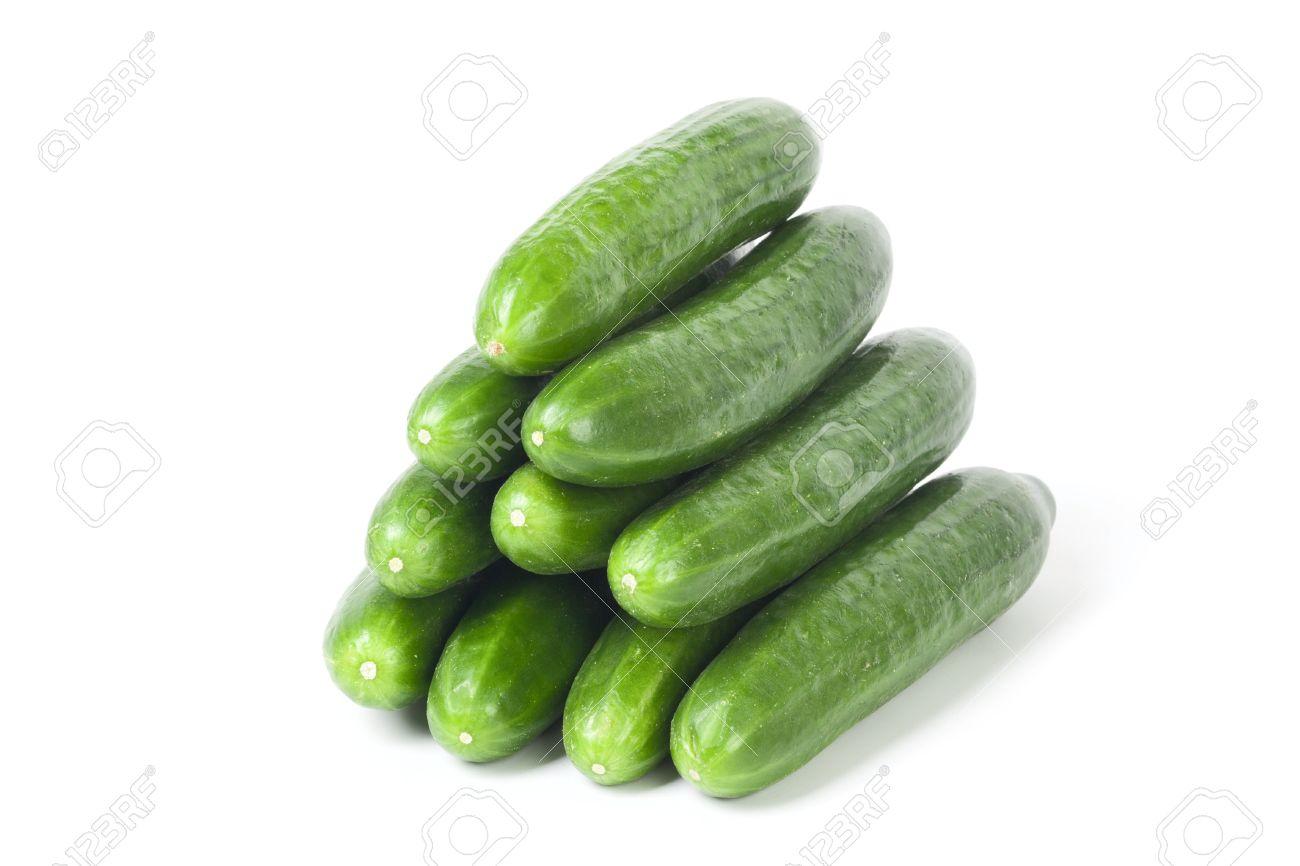 Cucumbers isolated on white background Stock Photo - 9331523