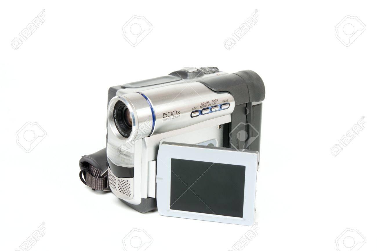 Camcorder isolated on white background Stock Photo - 9672648