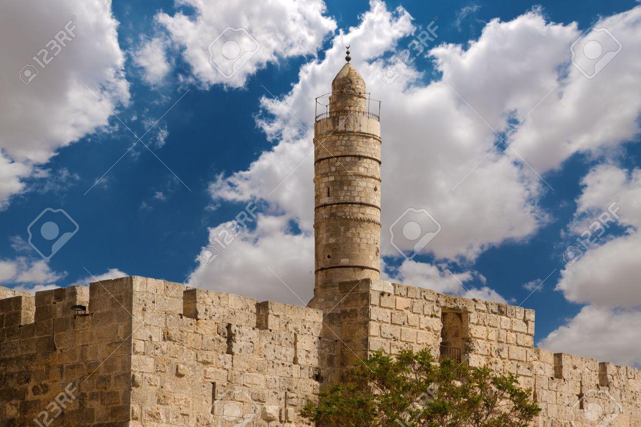 ダビデの塔、エルサレムの旧市街...