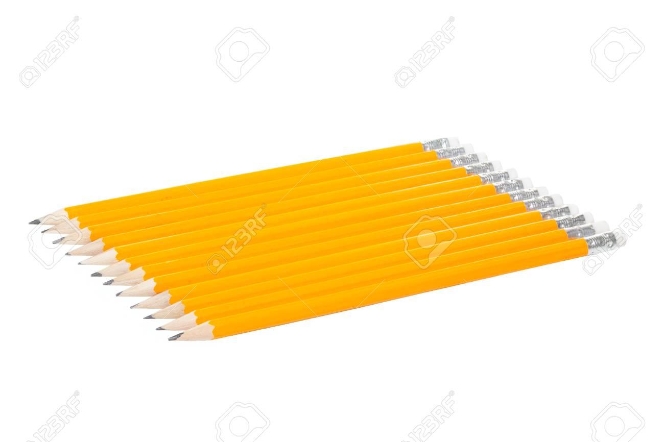 Twelve Pencils isolated on white background Stock Photo - 16949662
