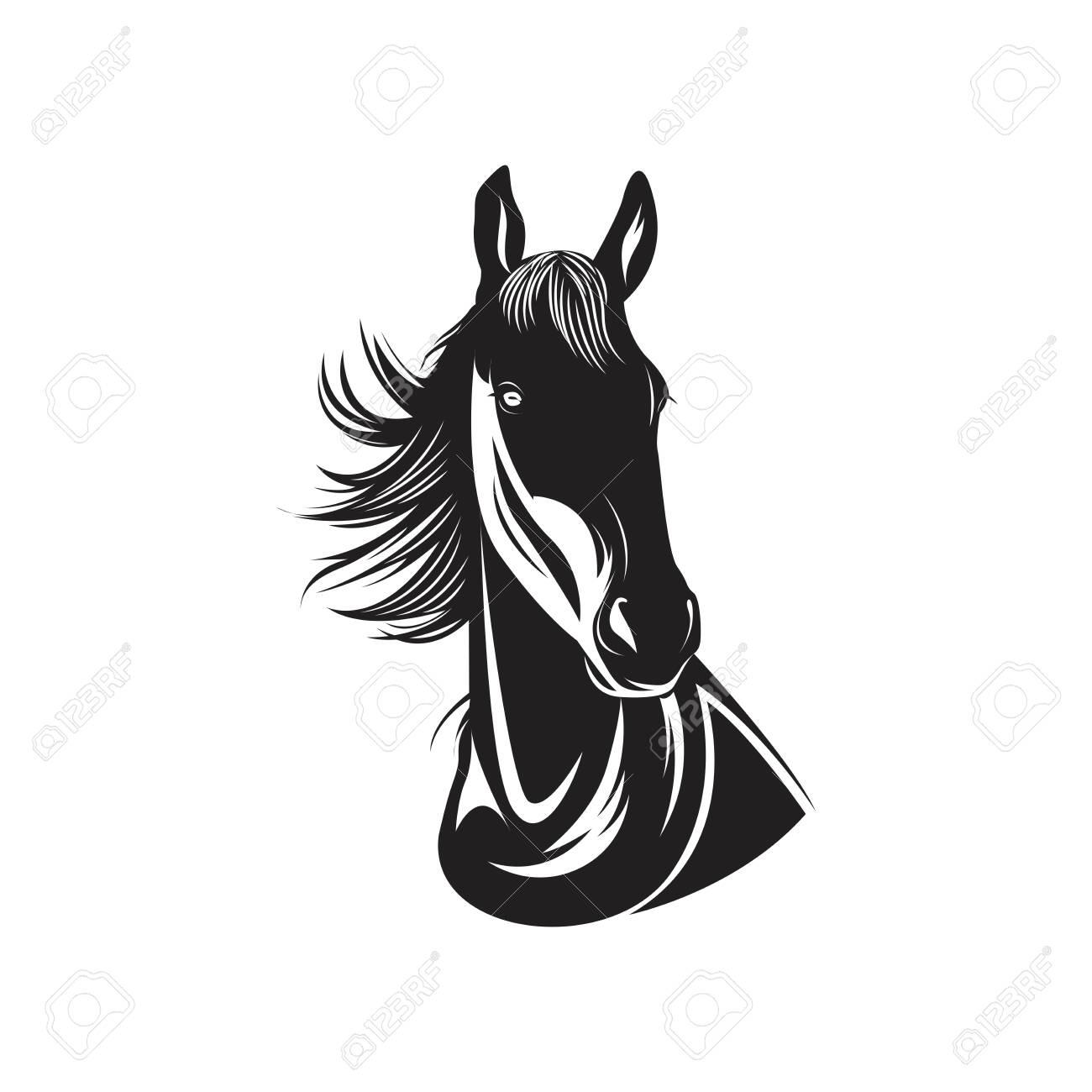 Detail Black Horse Head Illustration Ilustraciones Vectoriales Clip Art Vectorizado Libre De Derechos Image 141788337