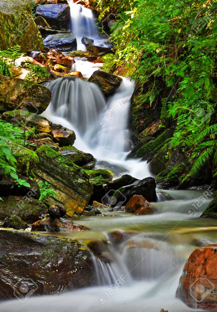 a portion of small waterfall Stock Photo - 16570729