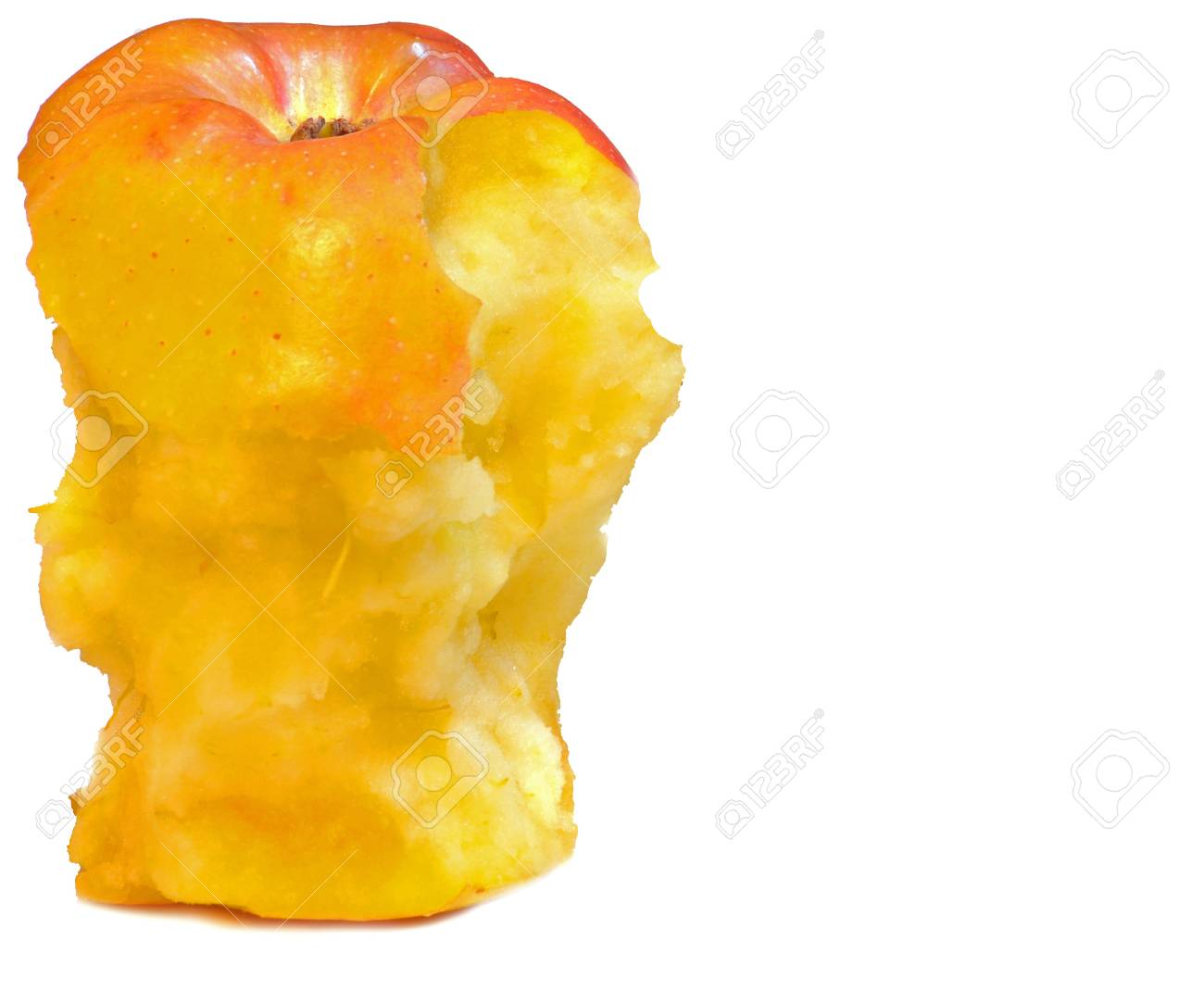 close up of partially eaten apple Stock Photo - 16820770